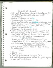 Biology Diploid v. Haploid Notes