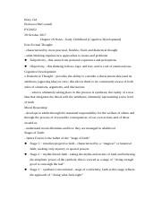 PY22052 - Chapter 18 - Early Childhood (Cognitive Development).docx