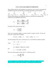 evaluating equilibrium expressions