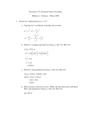 Winter 2008 - Newhouse's Class - Exam 2 (Version A)