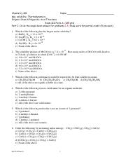Fall 14 Exam III Form A
