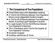 Chapter 08 - The Comparison of Two Populations