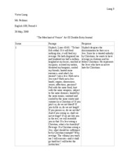 The Merchant of Venice Act 3 Double-Entry Journal