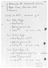 Answers to Linear Algebra Degree Exam 2014 (solutions)