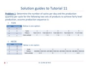 Tutorial 11 Exercises with solutions