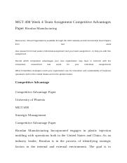 MGT 498 Week 4 Team Assignment Competitive Advantages Paper Riordan Manufacturing.docx