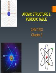 Chapter 3_Atomic Structure and periodic Table