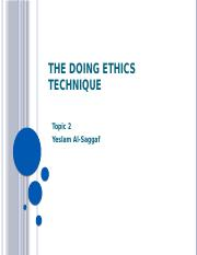 Topic2_The Doing Ethics Technique.pptx
