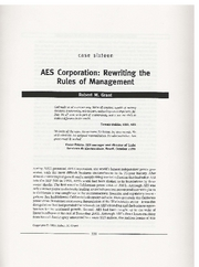 AES Corp - Rewriting the Rules of Management