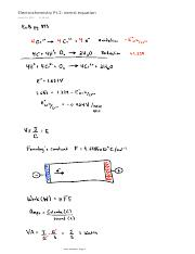 Electrochemistry Pt.2 nernst equation