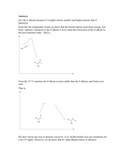 Practice problem Kinetic vs Thermodynamic Control ANSWERS