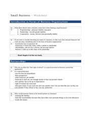 Small Business Module