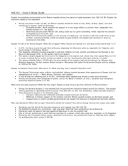 HIS 101 - Study Guide - Exam 2