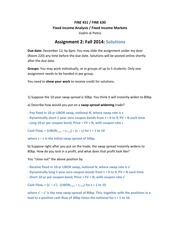 Assignment 2 Fall 2014 Solutions