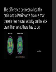The difference between a healthy brain and a