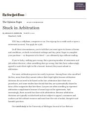Stuck in Arbitration - The New York Times (3).pdf