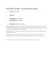 2nd Short Paper Requirement