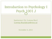Lecture 5_Psych 1001J_Nov 4_CU Learn