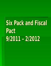 EP15 Six pack and Fiscal Pact.ppt