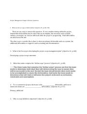 Project Management Chapter 6 Review Questions.docx