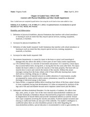 CH 14 Physical Disabilities Guided Notes 2