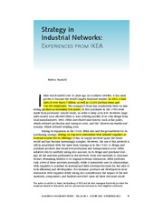 Strategy in Industrial Networks (1)