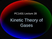 PC1431-2009-3-L27 Kinetic Theory of Gases