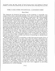 ARTICLE DOWD (1996) THE CASE FOR FINANCIAL LAISSEZ FAIRE