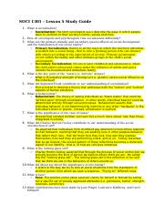 SOCI 1301 - Lesson 5 Study Guide.docx
