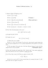 Differential Geometry Problem Set 1