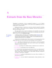 Extracts from the Base libraries