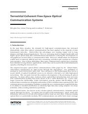 InTech-Terrestrial_coherent_free_space_optical_communication_systems