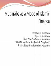 Chapter+5+Mudaraba+as+a+Mode+of+Islamic+Finance+a