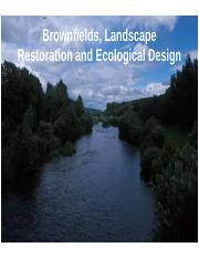 13. Brownfields Landscape Restoration Ecological Design