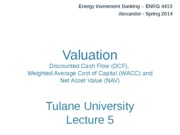Valuation (DCF, WACC) Powerpoint