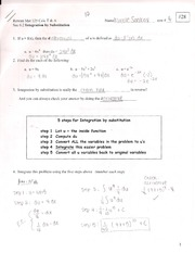 Integration by Substitution Outline