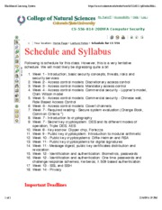 Schedule for cs556