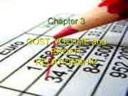 Chapter 3 - CVP Relationship Analysis..