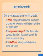 7.Internal Controls