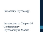 Personality Psychology Chapter 10