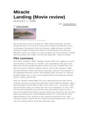 Miracle Landing Movie Review.docx