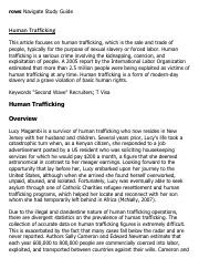 Human Trafficking Research Paper Starter - eNotes