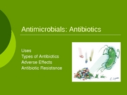 Lecture 9 - Antibiotics
