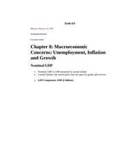Macroeconomic Concerns: Unemployment, Inflation and Growth