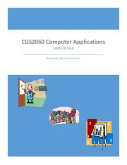 CGS2060 Lecture Five for Winter 2015 12_12_14