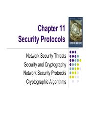 Week 12 and 13 Security Protocols