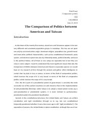 Final Essay Final Essay Comparative Politics.docx