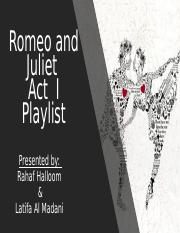 Romeo and Juliet Soundtracks Project