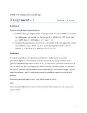 CHEN 470 - Assignment 1 - Fall 2013-14.pdf