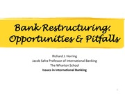 Class Notes - Bank Restructuring, Opportunities and Pitfalls (amended) (1)